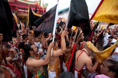 Jui Tui Shrine Phuket Vegetarian festival, at the time of the inauguration