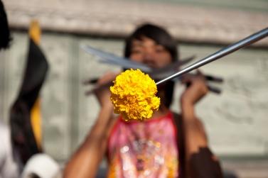 Jui Tui Shrine Phuket Vegetarian festival. The act of purification