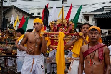 Sapam Shrine Phuket Vegetarian festival. The final procession