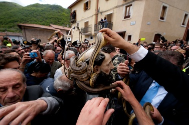 The Rite of Serpari. Cocullo, Italy.