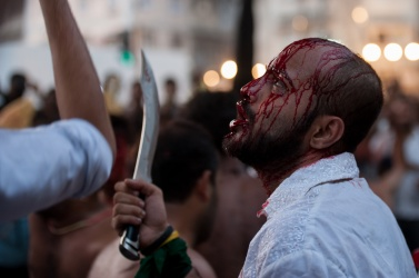 Self-flagellation is the culminating moment to commemorate the death of Hussein