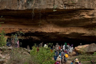 The cave where Sheik Hussein lived in complete solitude, is the goal of a continuous pilgrimage