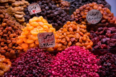 Plums, figs, apricots, dried fruit is part of the daily diet for Iranians