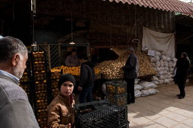 The fruit and vegetable department at the Kerman Bazaar is very lively from the early hours of the morning