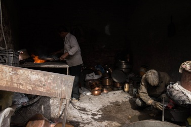 A small workshop in the Bazar e Sartasari of Kerman where the typical copper pots are produced by hand