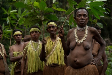 The Korowai people use only what they get from nature to dress