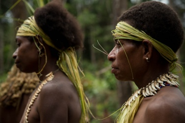 The Korowai people who still live in the jungle are very attached to ancient traditions