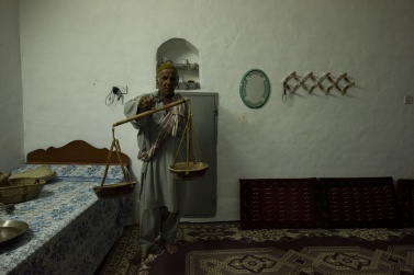 In his large house, Malik has dedicated a room to a museum.